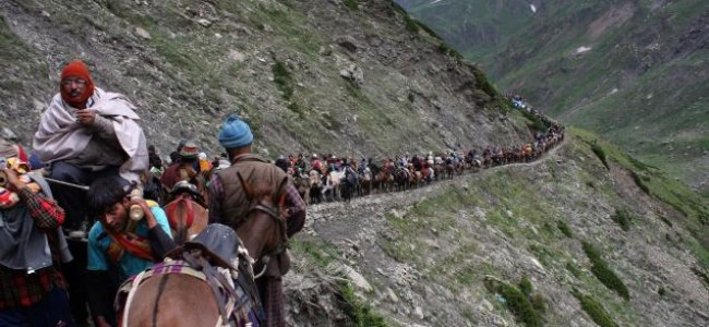 Choppers take pilgrims to Amarnath cave, land routes closed due to incessant rain