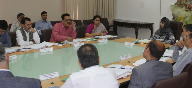Mehbooba asks JKTDC to evolve new modules of tourist business