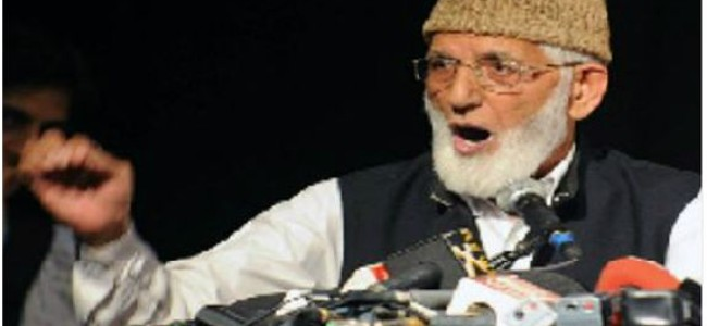 Geelani demands probe by UN sponsored war crime tribunal into J&K massacres