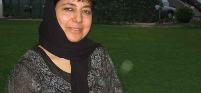 Connecting people my mission: Mehbooba