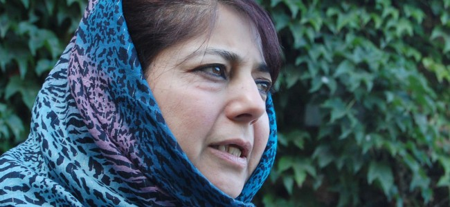 Mehbooba 'distressed' over loss of lives in avalanches