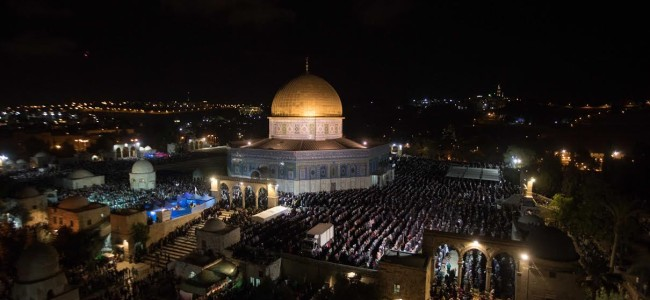3 lakh Muslims attend overnight prayers at Al-Aqsa Mosque