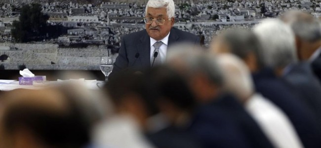 Palestinian President freezes all contacts with Israel