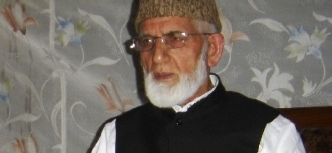 Geelani wishes Muslim world on Eid, prays 'respite' from bloodshed