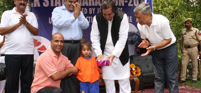 """""""Run for Peace"""" evokes overwhelming response, DGP flags off the run"""