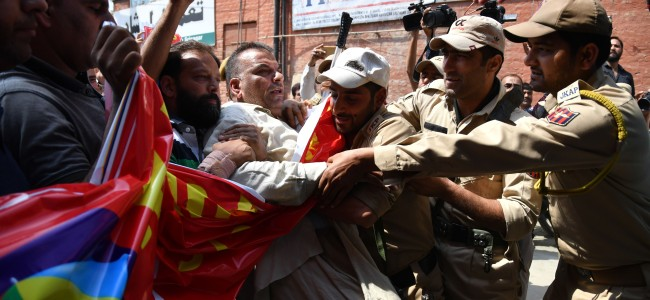 KEA march to Governor house foiled, call for Kashmir bandh on Aug 29