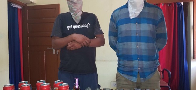 Two persons arrested with Liqour