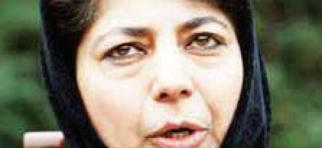 Need for making allocation agenda J&K specific, Mehbooba tells Niti Ayug