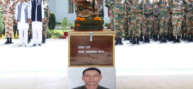 Soldier Succumbs After Eight Days, Army Pays Homage