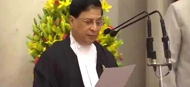 Dipak Misra sworn in as 45th Chief Justice of India