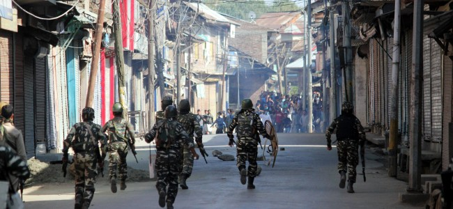 Shutdown, Clashes in Sopore on Friday