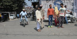 Restrictions were imposed in Old City Srinagar
