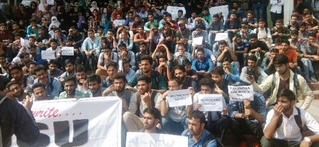 Protests in KU for second consecutive day against NIA summon to scholar