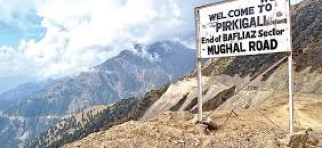 Vehicular movement suspended on Mughal road, rains cause landslides along route