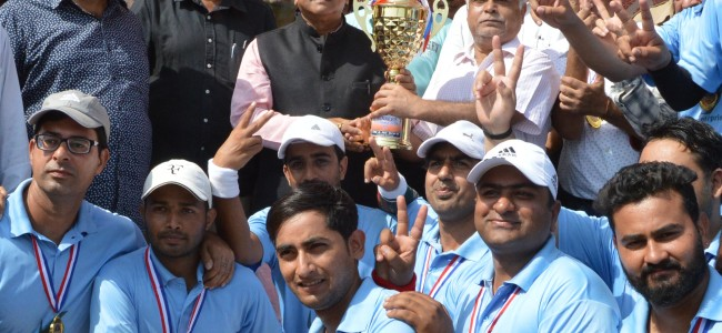 System and Operation Wing PDD Jmu wins Cricket Premier League T-20 2017