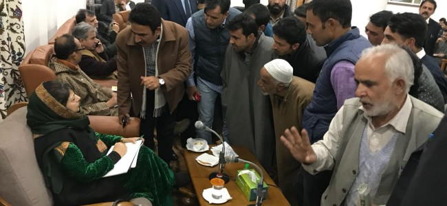 Chief minister Mehbooba Mufti holds public Darbar in Anantnag