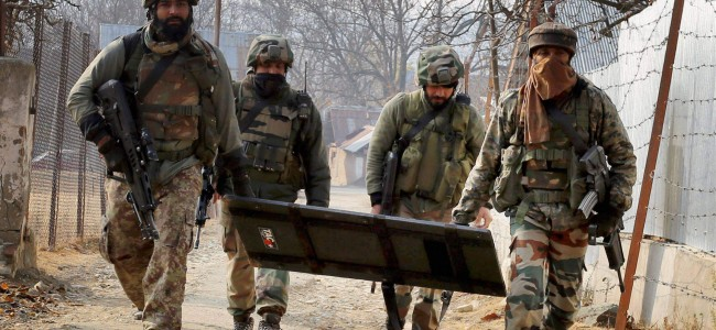 No body found so far at gunfight site in Shopian village, searches continue