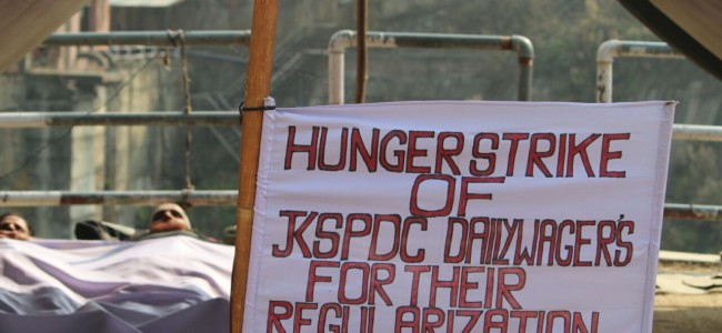 Do you know JKPDC daily wagers enter 48th-day of protest, 15-days of hunger strike