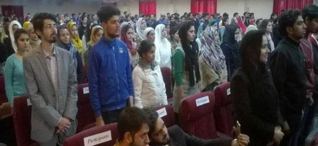 FIR lodged against two students of BGSBU for disrespecting national anthem