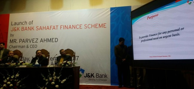 J&K Bank launches finance scheme for media