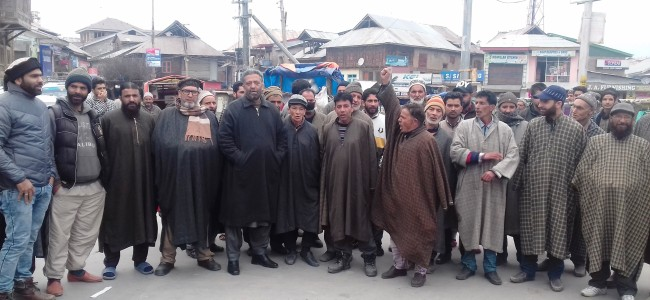 Anti-PDD protests held in Tral