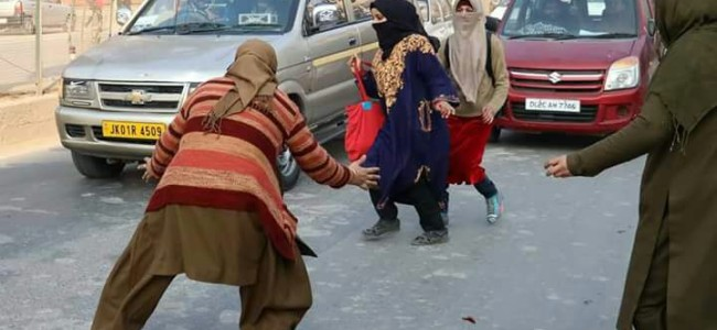 Student protest in Srinagar in pictures