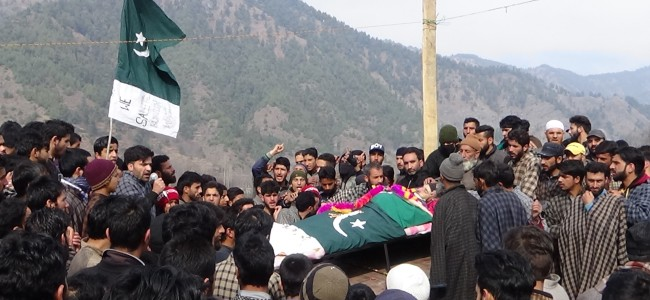 4 rounds of funerals held for slain Hizb militant; shutdown in Tral