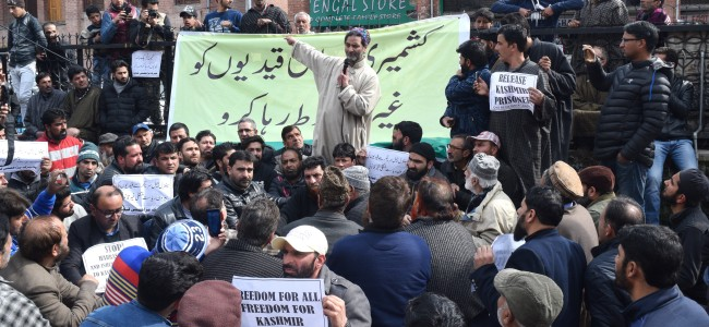 Shifting prisoners to outside jails 'autocratic, condemnable': JRL, holds sit-in at Jamia