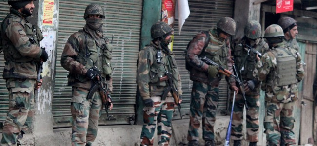 Palhallan encounter: Militant escapes, clashes going on