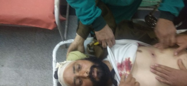 Policeman shot at in Khannabal