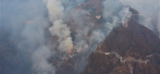 Rajouri forest fire enters Populated areas, Army, SDRF brought in