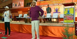 Governor NN Vohra while observing Yoga Day on Thursday