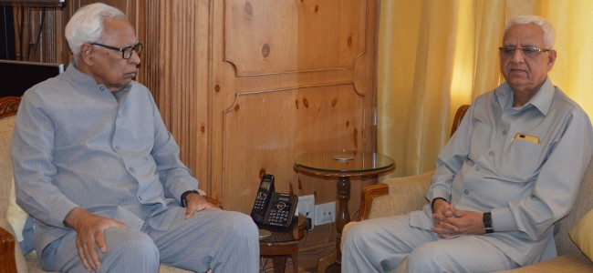 AG briefs Governor about status of all important cases in HC, SC