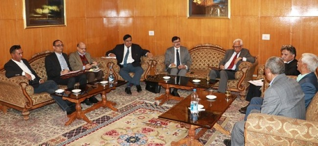Vohra for expeditious completion of works going on for 3 years in Leh