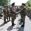 Army commander reviews security