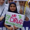 Little angels school organises anti-drug rally in Tral, bung destroyed