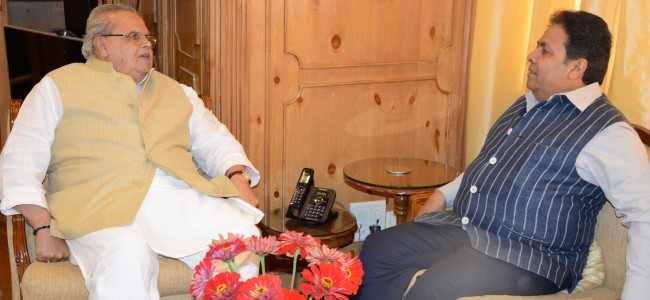 Rajiv Shukla meets Malik, discussed promotion of cricket in J&K