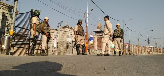 Arricle 35 A: Amid restrictions, protest, valley shuts on JRL call