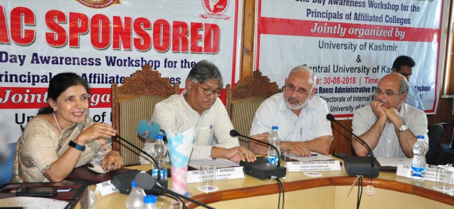 One-day NAAC sponsored awareness workshop held at KU