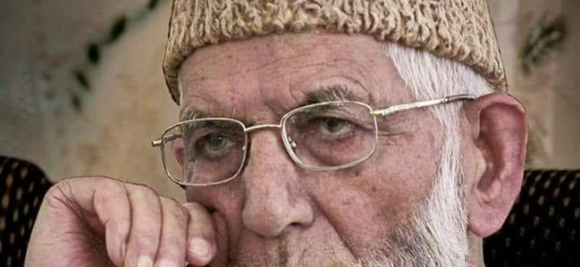 Indian leaders responsible for 'grim' Kashmir situation: Geelani