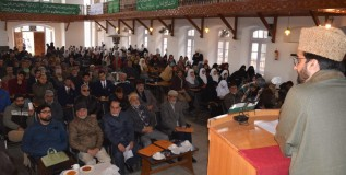 Mirwaiz Umar Farooq delivered a lecture in a Seerat Conference organised by Anjuman e Nusrat ul Islam at Islamia Higher Secondary