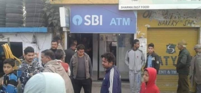 Kathua: SBI Bank ATM looted