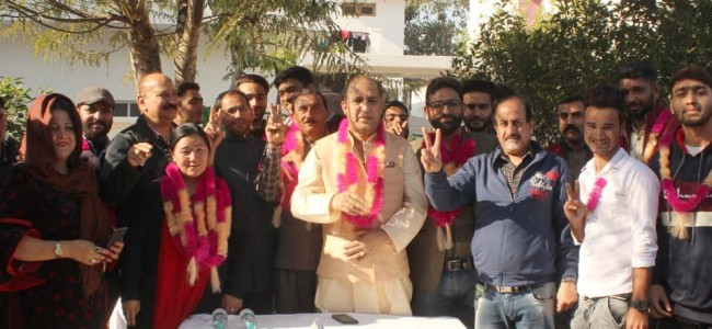 Several youth of Chenab valley, Jammu-West segment join JDU