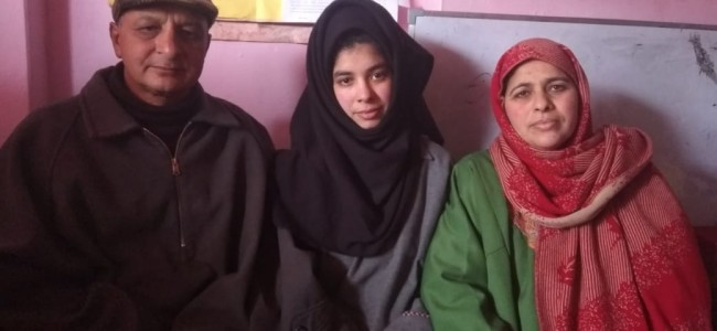 Among the 12th standard toppers: Kulgam girl makes parents proud, says 'work hard and keep faith in Allah'