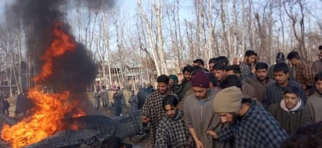 Chopper crashes in Budgam, Police rushes to spot