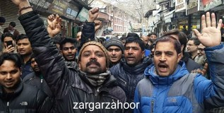 Minorities protest in Srinagar against harassment of Kashmiris in Jammu, elsewhere