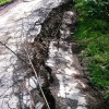 Road develops cracks in Chatrogam Tral, leaves residents worried