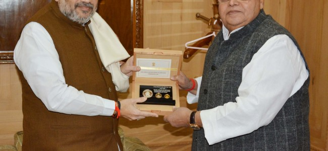 'Governor, Home Minister discuss development in J&K'