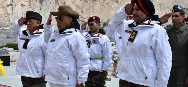 Rajnath Singh makes maiden visit to Siachen as defence minister