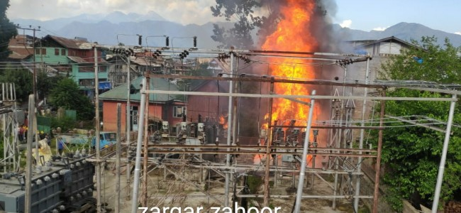 Fire breaks out in receiving station Karan Nagar